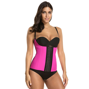 Image 3 - waist trainer latex modeling strap corsets steel slimming sheath belly cincher Shapewear fitness corset reduce belt girdle fajas