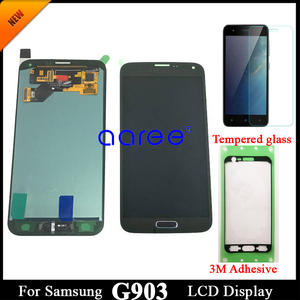 Image 1 - adhesive +100% Super AMOLED For Samsung S5 NEO LCD G903F Disaplay LCD Screen Touch Digitizer Assembly Home Button