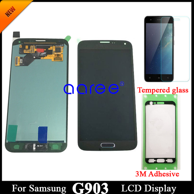 adhesive +100% Super AMOLED For Samsung S5 NEO LCD G903F Disaplay LCD Screen Touch Digitizer Assembly Home Button