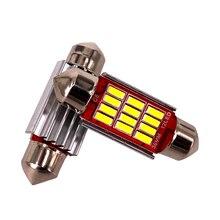 200 adet Festoon 31mm 36mm 39mm 41mm C5W CANBUS hiçbir hata otomatik ışık 12SMD 4014 LED araba İç Dome okuma lambası karışık toptan