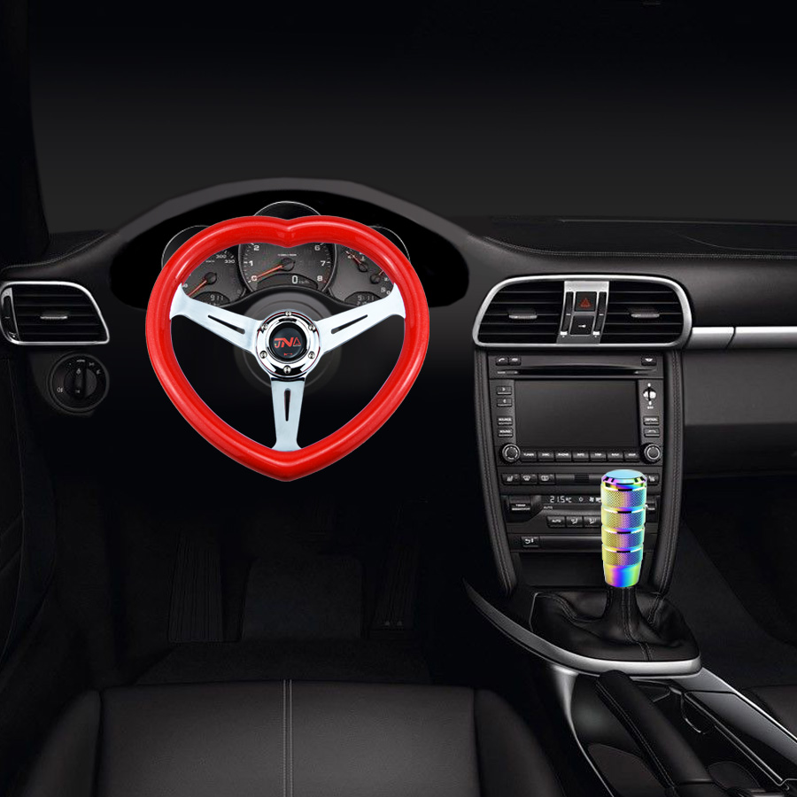 Универсальное гоночное рулевое колесо с кнопкой JNA, рулевое колесо в форме сердца
