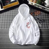 BONJEAN Strange things Chinese style men's hoodies Pisces pattern Harajuku sweatshirt men hip hop lil peep off white men hoodie