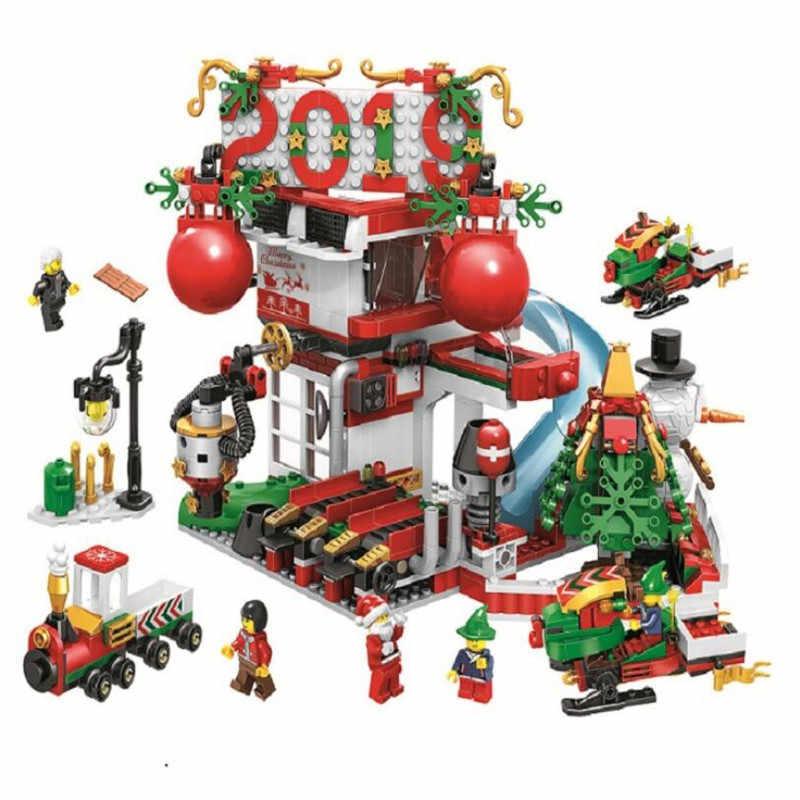 Image Christmas Sets 2019.2019 New Christmas Sets Village Train Hot Air Balloon
