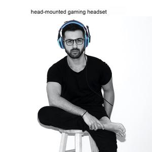 Image 3 - Kebidu yüksek performanslı ayarlanabilir oyun oyun kulaklıkları 3.5mm gürültü önleyici bilgisayar PC oyuncular için mikrofonlu kulaklık