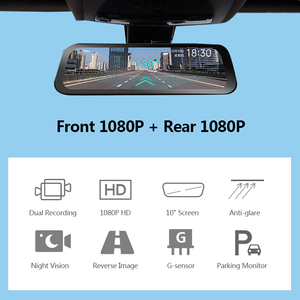 Image 2 - 70mai Rearview Mirror Camera Wide 9.35 inch Full Screen Stream Media Dash Cam Wifi 1080P 70 Mai Car DVR Rear View Camera