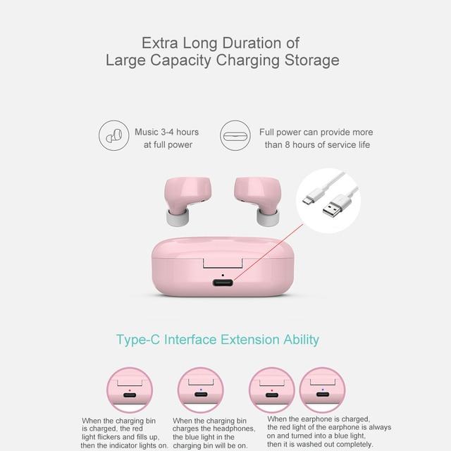 TW60 Mini Bluetooth 5.0 intra-auriculaires sans fil écouteurs sport écouteurs avec double Microphone Bluetooth