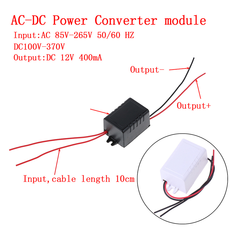 Heißer AC-DC 110V 220V <font><b>230V</b></font> Zu <font><b>12V</b></font> 400MA Converter Power Supply Module <font><b>Adapter</b></font> image