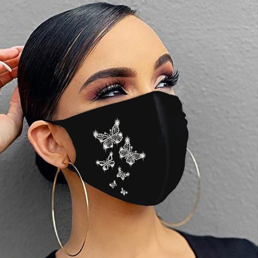In Stock Reusable Protective Mask Pm2.5 Activated Carbon Filter Printing Mouth Mask Anti Dust Face Mask Windproof Mouth muffle|Masks|   - AliExpress