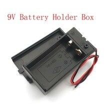 9V Batterij Houder Box Met Wire Lead Aan/Uit Schakelaar Cover Case