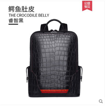 gete New crocodile leather backpacks handmade belly travel bags casual fashion mens men backpack