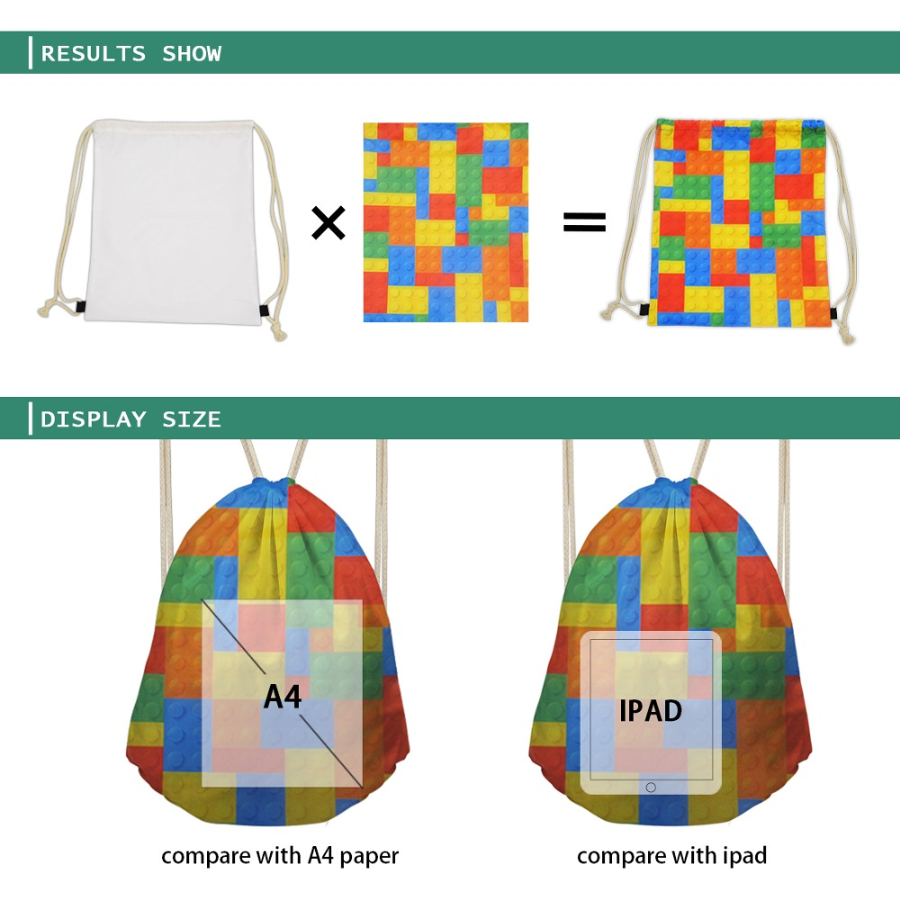 ThiKin Marcus And Martinus Drawstring Bag Children Backpacks for Teenager Girls Small Storage Bags Daily Backpack Mochila in Drawstring Bags from Luggage Bags