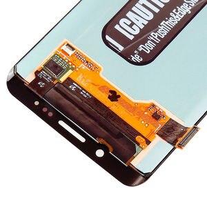 Image 4 - ORIGINAL 5.7 AMOLED LCD para SAMSUNG Galaxy s6 borda Mais G928 G928F Exibição Digitador Da Tela de Toque Com a Linha