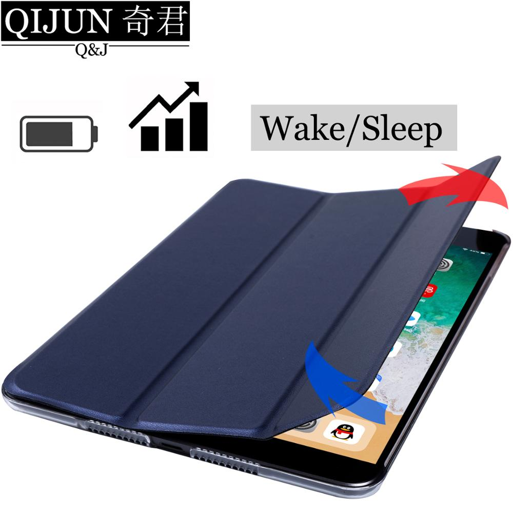 Чехол для планшета Huawei MediaPad T3 10, 9,6 дюйма, кожаный чехол с функцией смарт-сна, трехслойный чехол с подставкой, Твердый чехол для телефона, чехол для Huawei MediaPad T3 10/L09/L03-1