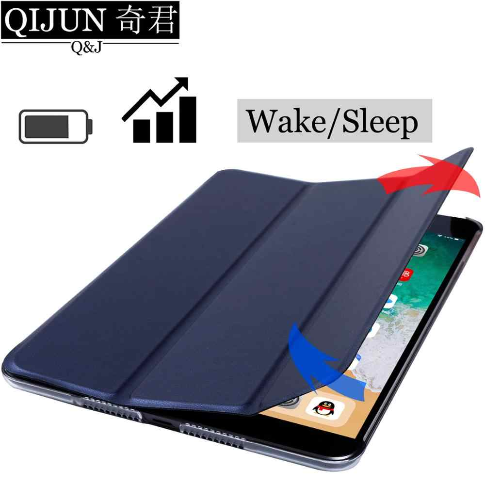 اللوحي حافظة لهاتف huawei MediaPad T3 10 9.6 بوصة الجلود الذكية النوم ويك فوندا Trifold حامل الصلبة غطاء كابا ل AGS-W09/L09/L03