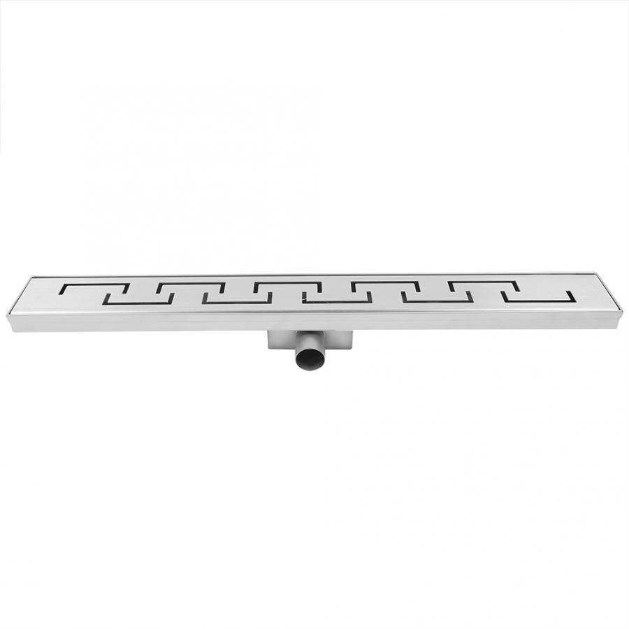 Strainer Stainless Steel Rectangular Shower Floor Drain Bathroom Drainage Gully (Side Drainage) Rectangular Floor Drain