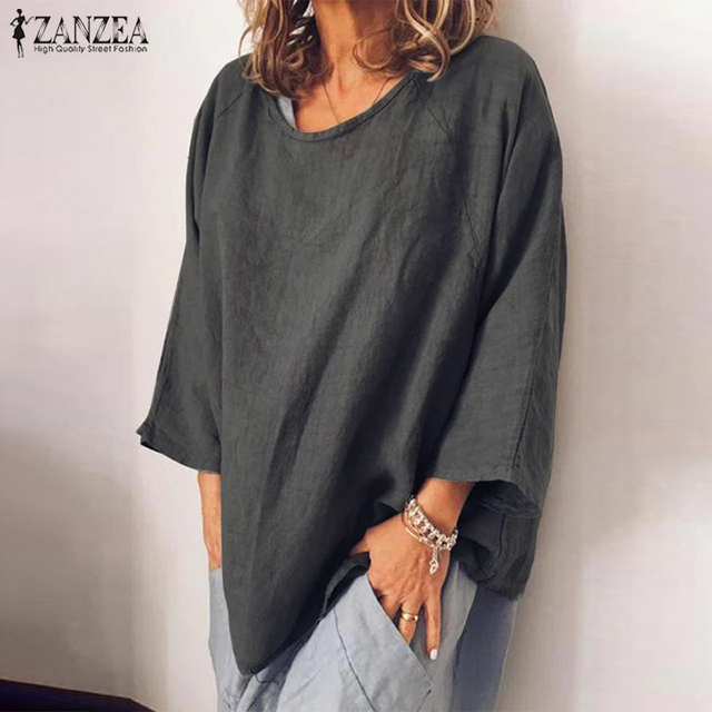 Long Sleeve Solid Blouse 4