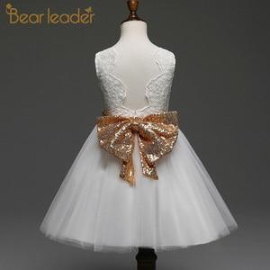 Платье для девочек bear leader, летнее платье принцессы на бретельках с блестками, многослойное платье, платье для маленьких девочек, 2020