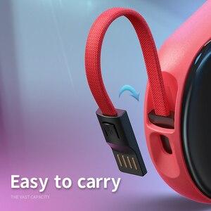Image 4 - Mini Banca di Potere del Display A LED Caricatore Portatile PowerBank Mirro Superficie Banca di Power10000mah Sottile Banca di Potere Per Iphone12 Xiaomi