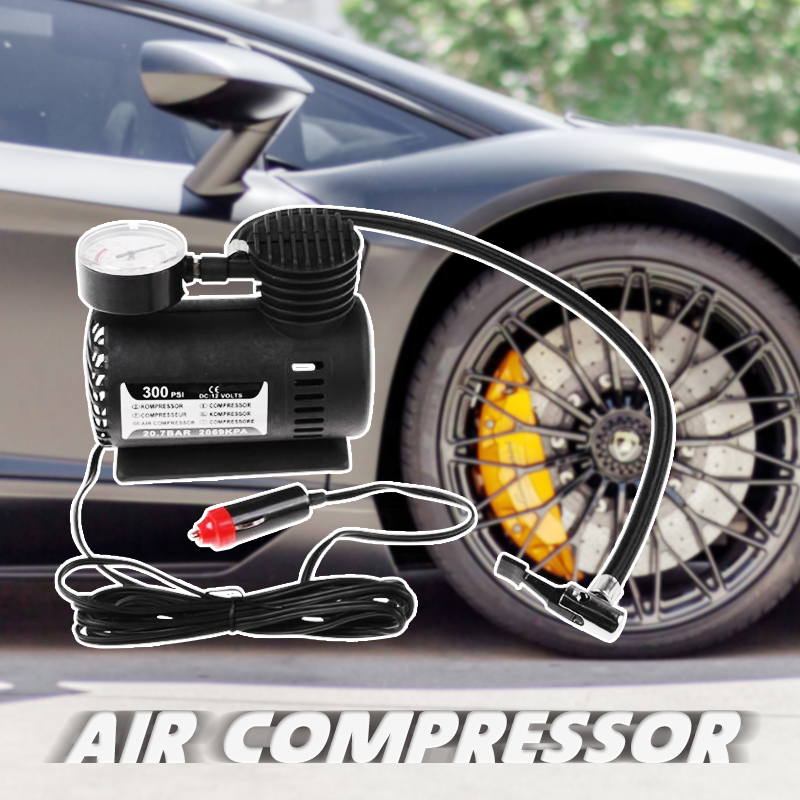 Image 5 - DC 12V 300 PSI Portable Air Compressor Car Electric Inflator Tyre Pump For Car Motorcycle Bicycles Electric Car ATV Truck Etc-in Inflatable Pump from Automobiles & Motorcycles