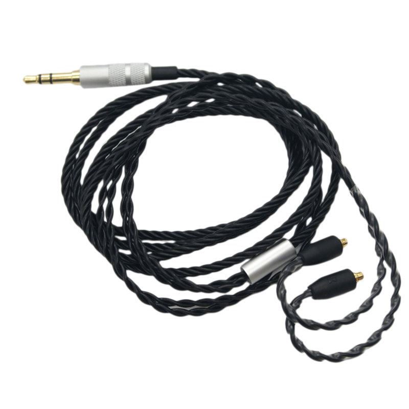 4 Twist Mmcx Headphone Cable 3.5Mm Detachable Replacement Headsets Cord For Shure Se315/Se425/Se535/Se846