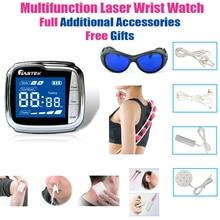 Многофункциональное устройство для терапии LASTEK, полные аксессуары, облегчение боли, фарингит, диабетики, гипертония, лазерные наручные часы, бесплатные подарки