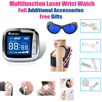 LASTEK Multifunction Therapy Device Full Accessories Pain Relief Pharyngitis Diabetics Hypertension Laser Wrist Watch Free Gifts