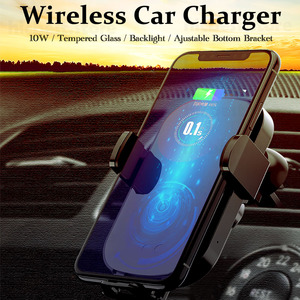 Image 2 - Wireless Car Charger Phone Holder for iPhone Samsung Car Wireless Charging Charger for iPhone 11 Pro X XR XS 8 Samsung S8 S9 S10
