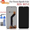 ЖК-экран 6,1 дюйма для Tecno Spark 4 Air KC6 KC1J, ЖК-дисплей, кодирующий преобразователь сенсорного экрана в сборе, дигитайзер экрана в сборе для Tecno Spark4 ...
