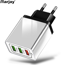 Marjay Quick Charge 3.0 USB Charger 3 Ports QC3.0 QC Mobile Phone For iphone Samsung Xiaomi Huawei Wall Travel