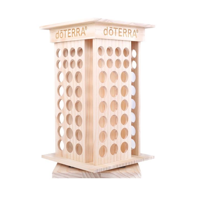 Рамка для выставок эфирных масел, вращающийся шкаф из твердой древесины, эфирное масло, коробка, деревянный ящик 104 сетка, красивая Roca Yl