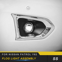 For Nissan Patrol Y62 2pcs Auto Car styling Front Rear Fog Lights Assembly LED Light Replacement Exterior Parts