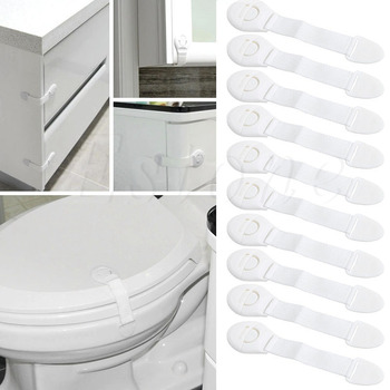 New 10 Pcs Child Infant Baby Kids Drawer Door Cabinet Cupboard Toddler Safety Locks fa 92 baby infant child multi function rotatable drawer safety locks white
