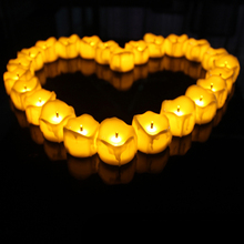 12pcs/set Flameless Battery Christmas LED Tea Light Flickering Tealights Candles Valentines Day Wedding Party Decoration Gifts