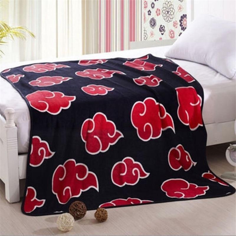NARUTO Akatsuki Red Cloud Blanket Cosplay Prop Flannel Fleece Sheet Uchiha Itachi Pain Nagato Konohagakurenosato|Costume Props|   - AliExpress