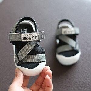 Image 3 - Été infantile enfant en bas âge sandales bébé filles garçons sandales décontractées fond souple confortable anti dérapant enfants sandales Anti collision