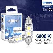 Philips Ultinon светодиодный фестон 36 мм Автомобильный интерьерный светильник ing для чтения Карта Clearanace светильник номерного знака сигнальные лампы 6000K 1 шт