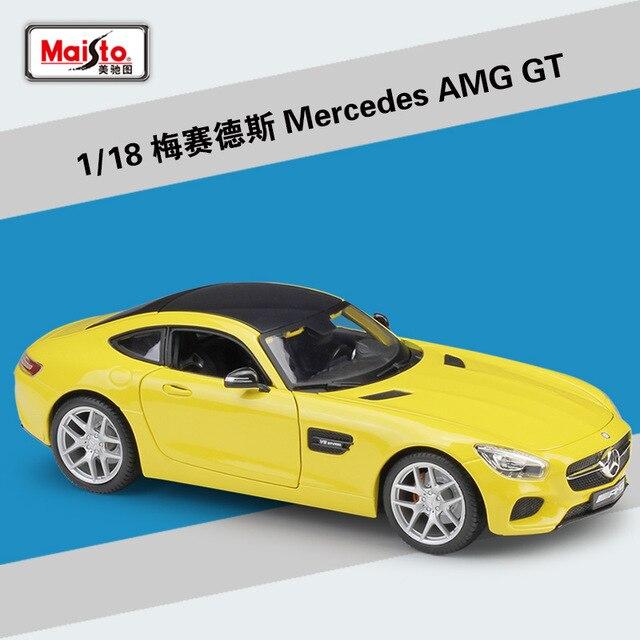 Maisto ダイキャスト 1:18 メルセデスベンツ AMG GT/SLS/500 18K スポーツ車の金属モデル車スーパーカー合金のおもちゃ子供のためのギフトコレクション