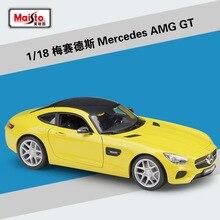 Maisto voiture de sport Diecast 1:18, Mercedes Benz AMG GT/SLS/500K, modèle de voiture de sport en métal, super voiture en alliage, jouets pour enfants, Collection de cadeaux