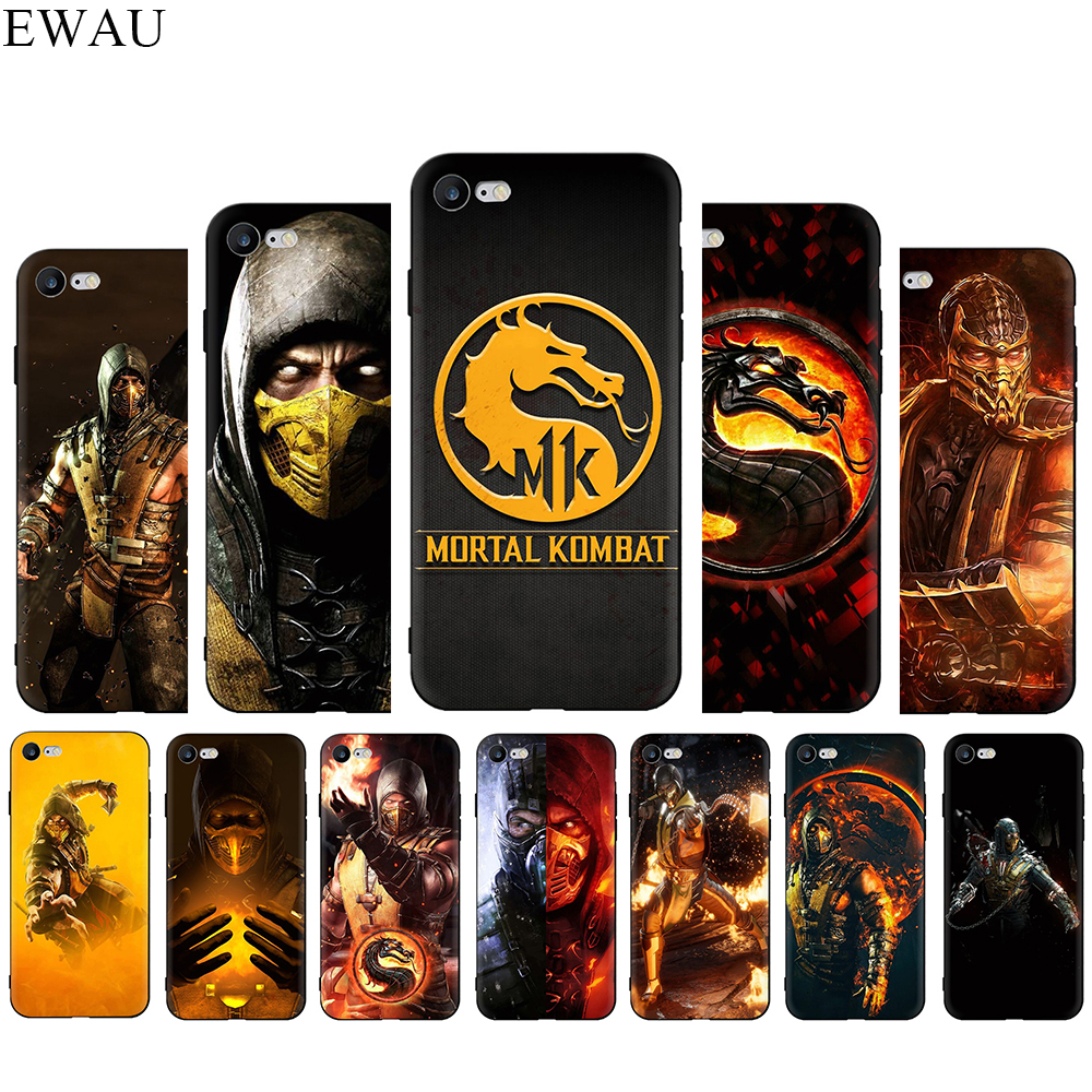 Mortal Kombat Silicone phone case for iphone 5 5s SE 2020 6 6s 7 8 Plus X XR XS 11 Pro Max
