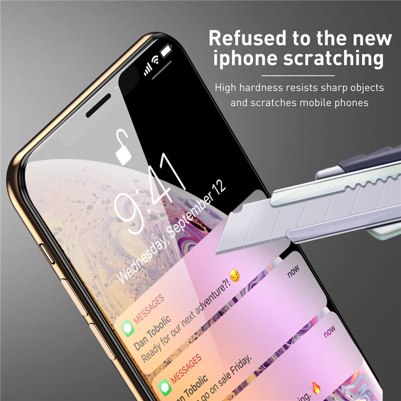 Image 5 - 9D 9H Tempered Glass for iPhone 11 Pro Max Xs Max Xr X 6 6S 7 8 Plus 5 5S SE Full Cover Screen Protector for iPhone 11 Pro Glass-in Phone Screen Protectors from Cellphones & Telecommunications