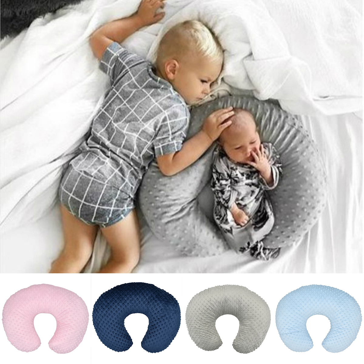 2019 New Baby U-Shaped Breastfeeding Pillow Nursing Pillow Cover Soft Slipcover Breastfeeding Cushion Cover Baby Shower Gift