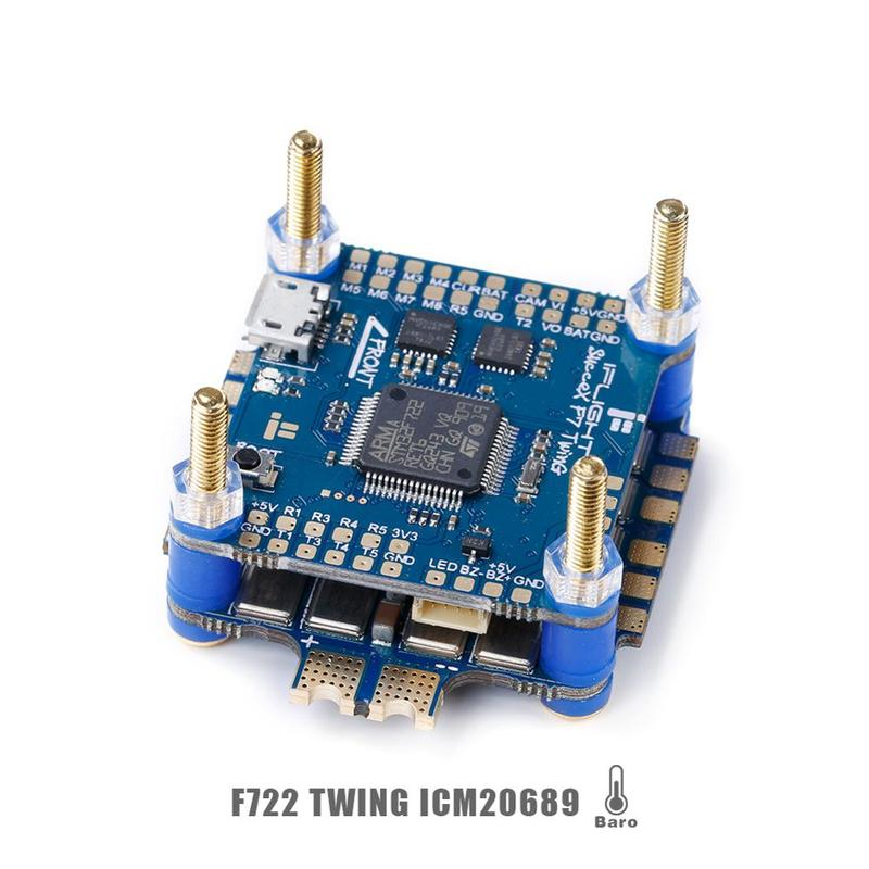 IFlight SucceX F7 V2.1 TwinG FC met SucceX 60A V2 Plus BLHeli 32 DShot1200 4 in 1 ESC FPV flytower Systeem Stack voor FPV Drone - 2