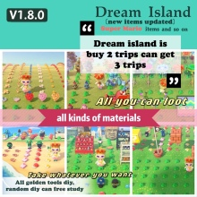 Horizons-Dream Mile Linkage-Props/furniture Animal Crossing Rare-Flowers/nook 640diy/bells