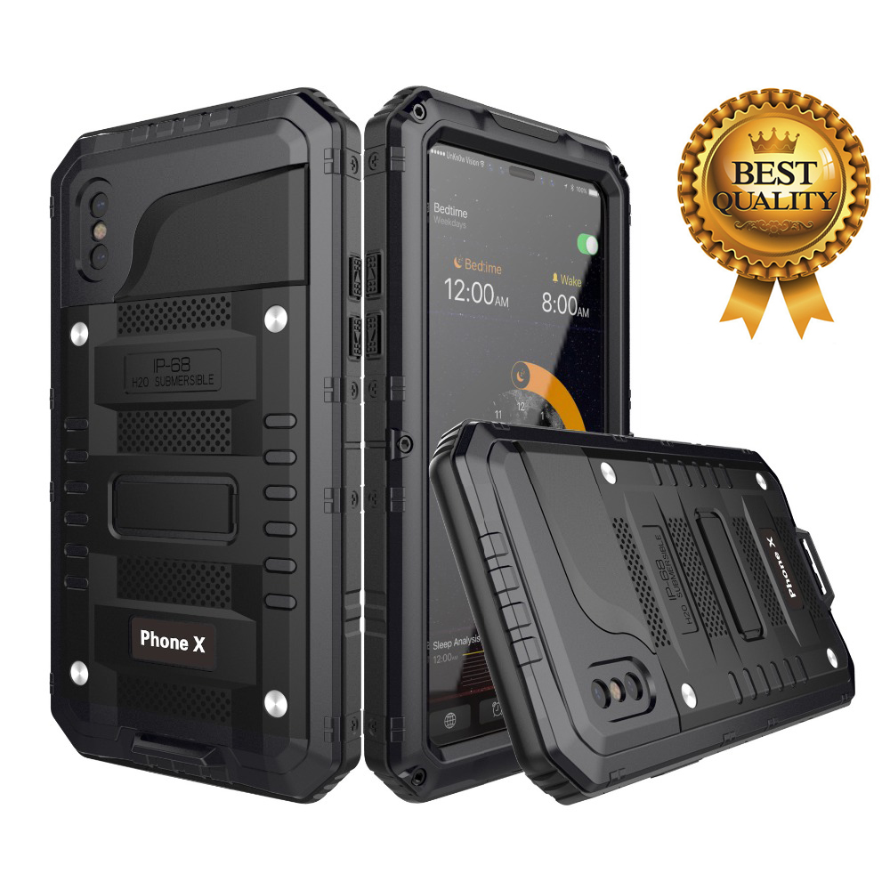 Doom Rüstung IP68 Wasserdicht Stoßfest Heavy Duty Hybrid Tough Rugged Metall Fall für <font><b>iPhone</b></font> X 8 7 <font><b>6</b></font> 6s plus 5S XR XS Max abdeckung image