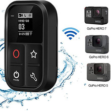 TELESIN الذكية واي فاي التحكم عن بعد كاميرا تحكم مقاوم للماء مع مؤشر شاشة LCD ل Gopro بطل الأسود 7 6 5 Gopro بطل 8