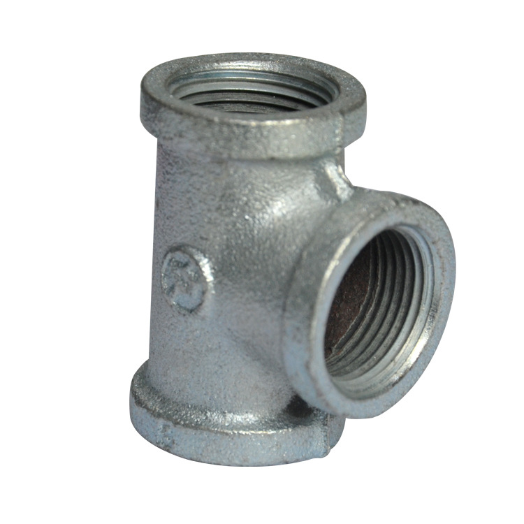 Manufacturers Direct Selling Malleable Iron Galvanized Pipe Fitting Threaded T-connector Crafts Accessories Of Pipe Fittings Bid