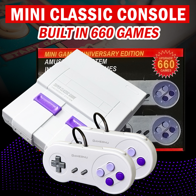 2020 New 8 Bit Retro Mini Arcade Classic Game Box TV Video Game Console with 821/660 Games for Handheld Game Players Best Gift