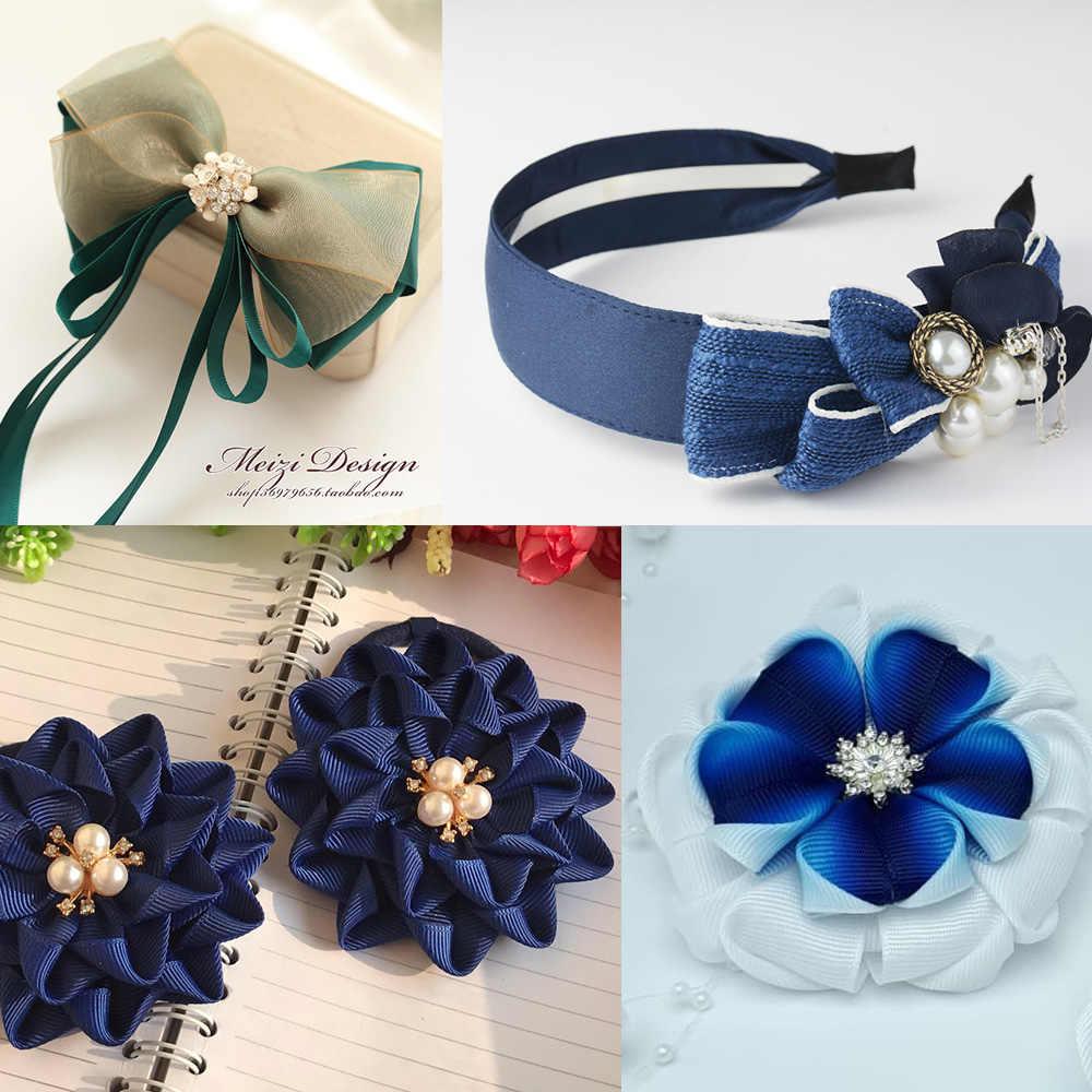 10 sztuk wiele kolorowe kwiaty przycisk perła guziki z kryształu górskiego DIY rzemiosło szycie ubrań mieszkanie powrót kryształ dla opaska do włosów dekoracyjne