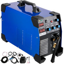 VEVOR 3 in 1 MIG MMA TIG IGBT Portable Inverter Welder Semi-Automatic Welding Machine for Repair Work 160 250 270 Amp 110V 220V