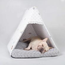 Triangle Pet Bed Cat Nest Dog House Warm Thickened Kennel Mat Cat Villa Pet Supplies
